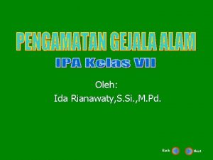 Oleh Ida Rianawaty S Si M Pd Back