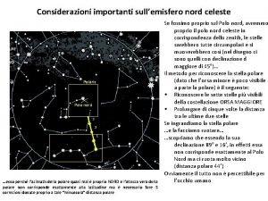 Considerazioni importanti sullemisfero nord celeste Polaris 5 Polo