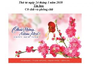 Th t ngy 24 thng 1 nm 2018