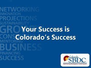 Your Success is Colorados Success Program History 1987