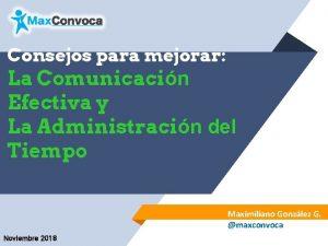 Consejos para mejorar La Comunicacin Efectiva y La