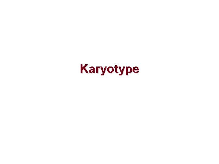 Karyotype Why is karyotype Karyotype The characterization of