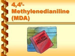 4 4Methylenedianiline MDA Regulated areas v Entrances and