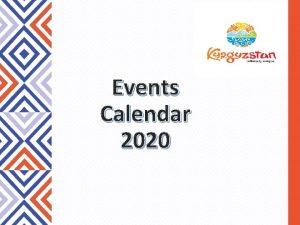 Events Calendar 2020 Events Calendar 2020 Spring Summer