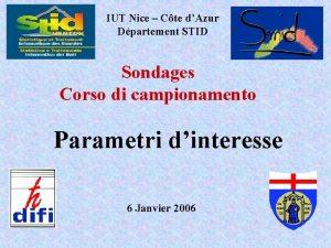 IUT Nice Cte dAzur Dpartement STID Sondages Corso