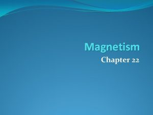 Magnetism Chapter 22 Properties Of Magnets 22 1