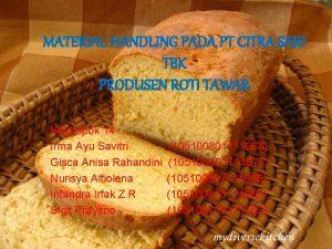 MATERIAL HANDLING PADA PT CITRA SARI TBK PRODUSEN