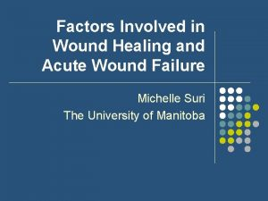 Factors Involved in Wound Healing and Acute Wound