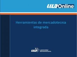 Herramientas de mercadotecnia integrada ndice HERRRAMIENTAS DE MERCADOTECNIA