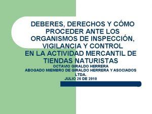 DEBERES DERECHOS Y CMO PROCEDER ANTE LOS ORGANISMOS