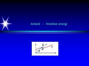 Arbeid Kinetisk energi F dr r C Arbeid