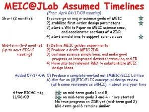 MEICJLab Assumed Timelines Short 2 months From April