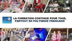 LA FORMATION CONTINUE POUR TOUS PARTOUT EN POLYNESIE
