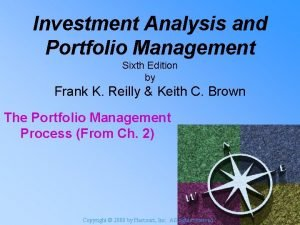 Investment Analysis and Portfolio Management Sixth Edition by