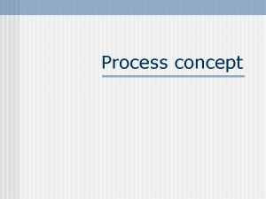 Process concept Concept of Multiprogramming n When there