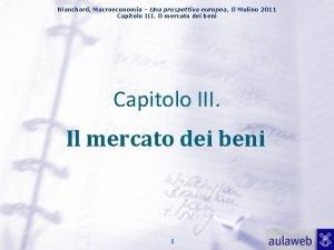 Blanchard Macroeconomia Una prospettiva europea Il Mulino 2011