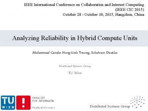 IEEE International Conference on Collaboration and Internet Computing