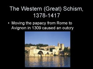 The Western Great Schism 1378 1417 Moving the