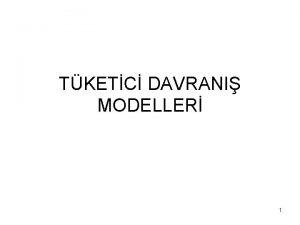 TKETC DAVRANI MODELLER 1 Kara Kutu Uyarc Tepki