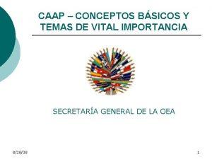CAAP CONCEPTOS BSICOS Y TEMAS DE VITAL IMPORTANCIA