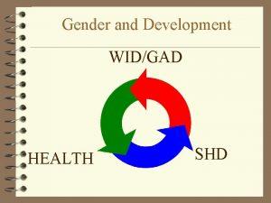 Gender and Development WIDGAD HEALTH SHD Gender and