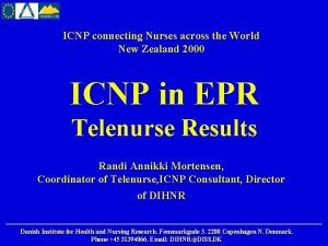 ICNP connecting Nurses across the World New Zealand