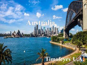 Australia Timofeyev U A Australia Commonwealth of Australia