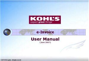 eInvoice User Manual June 2007 2007 NYK Logistics