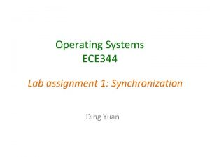 Operating Systems ECE 344 Lab assignment 1 Synchronization