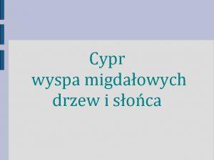 Cypr wyspa migdaowych drzew i soca Flaga Herb
