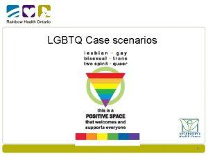 LGBTQ Case scenarios 1 Case scenario discussions Pls