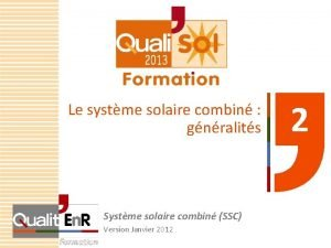 Le systme solaire combin gnralits Systme solaire combin