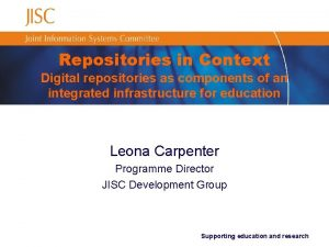Repositories in Context Digital repositories as components of