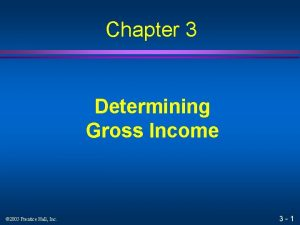 Chapter 3 Determining Gross Income 2005 Prentice Hall