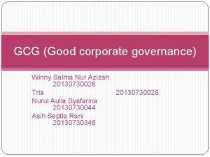GCG Good corporate governance Winny Salma Nur Azizah