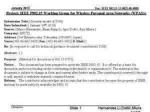 January 2013 Doc IEEE 802 15 13 0021