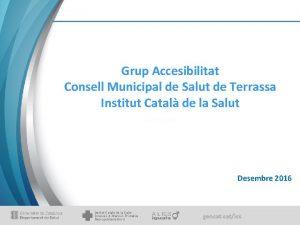 Grup Accesibilitat Consell Municipal de Salut de Terrassa