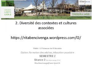2 Diversit des contextes et cultures associes https