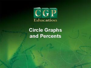 Circle Graphs and Percents 1 Circle Graphs and