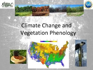 Climate Change and Vegetation Phenology Climate Change In