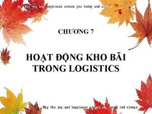 CHNG 7 HOT NG KHO BI TRONG LOGISTICS