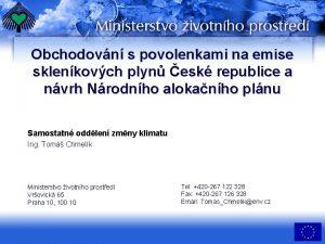 Obchodovn s povolenkami na emise sklenkovch plyn esk