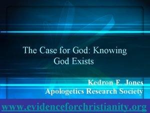 The Case for God Knowing God Exists Kedron