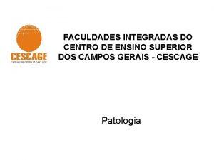 FACULDADES INTEGRADAS DO CENTRO DE ENSINO SUPERIOR DOS