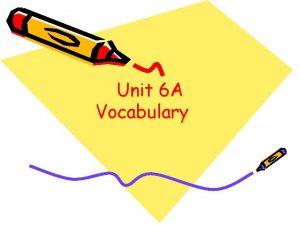 Unit 6 A Vocabulary Box Plot A plot
