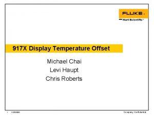 917 X Display Temperature Offset Michael Chai Levi