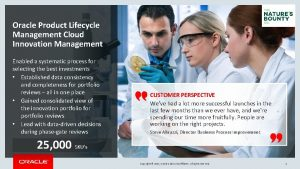Oracle Product Lifecycle Management Cloud Innovation Management Enabled