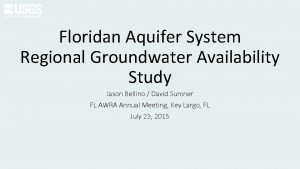 Floridan Aquifer System Regional Groundwater Availability Study Jason