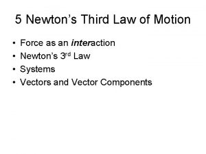 5 Newtons Third Law of Motion Force as