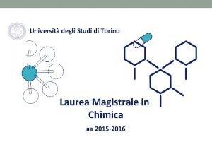Universit degli Studi di Torino Laurea Magistrale in